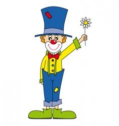 clown flower vector image