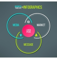 Circles infographics template message vector