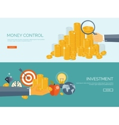 Flat background money and vector