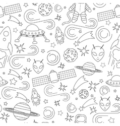 Space line icon pattern vector