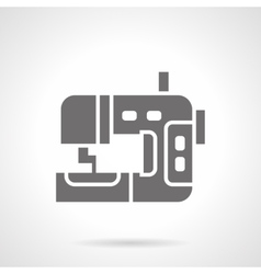 Industrial sewing machine glyph style icon vector