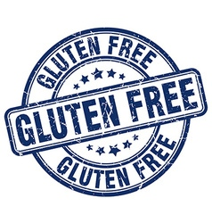 Gluten free blue grunge round vintage rubber stamp vector