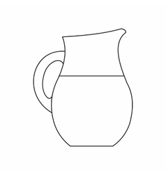Pitcher of milk icon outline style vector
