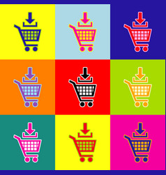 Add to shopping cart sign pop-art style vector