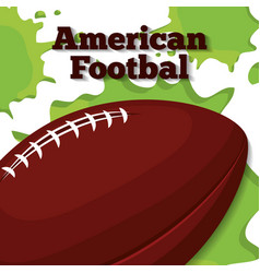 american football sport design vector image
