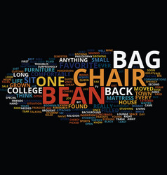 Bean bag chairs for kids text background word vector