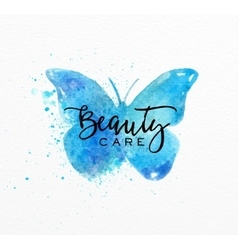 Beauty natural spa butterfly vector image