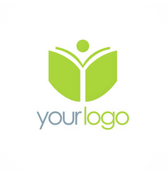 book student school logo vector image