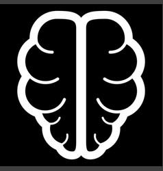 Brain the white color icon vector