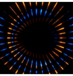 Bright glowing beams stripes vector
