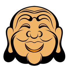 buddha head icon cartoon vector image vector image