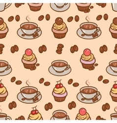 coffeeart seamless pattern vector image