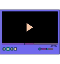 colorful video player vector image vector image
