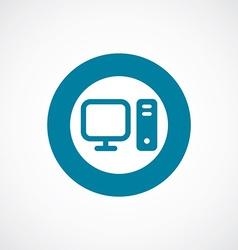 computer icon bold blue circle border vector image vector image