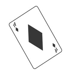 diamond card icon vector image