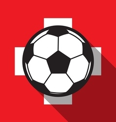 Football icon with switzerland flag vector