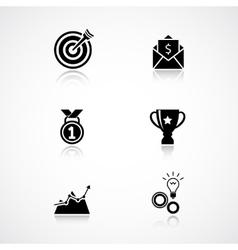 Goal achievement icons set vector