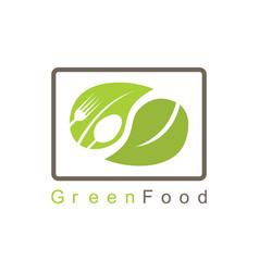 green food logo vector image