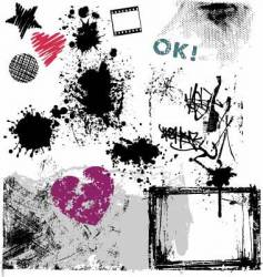 grunge design elements vector image vector image