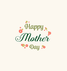 Happy mother day style collection card vector
