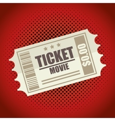 icon ticket movie design vector image