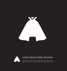 isolated garb icon clothing element can be vector image vector image