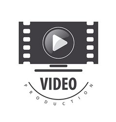 logo to view the video on a monitor vector image