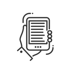 Mobile device - modern single line icon vector
