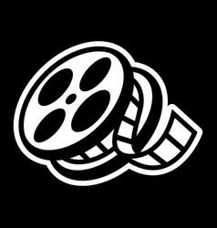 Movie theater cinema film reel unspooling vector