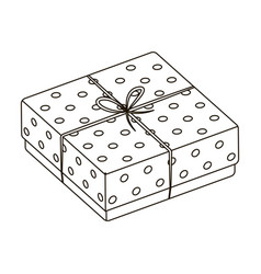Purple gift for polka dots gift wrap on holiday vector