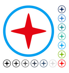 sparkle star rounded icon vector image