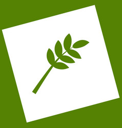 Tree branch sign white icon obtained as a vector