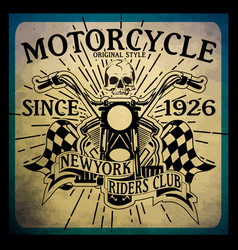 vintage motorcycle hand drawn tee graphic design vector image vector image