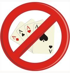 No gambling cards vector
