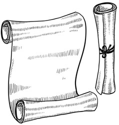 Doodle scroll paper vector