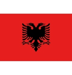 Flag of albania in correct size and colors vector