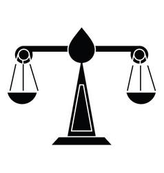 justice scale law symbol pictogram vector image