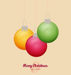 Flat christmas balls christmas card vector