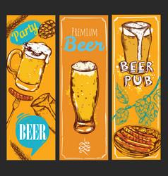 beer banner set vector image