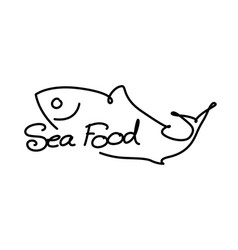 graphic sea food vector image