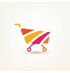 Shopping cart simple icon e-commerce and internet vector