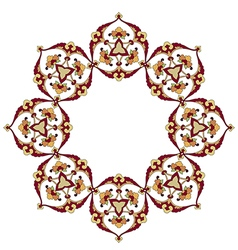 fourty series designed from the ottoman pattern vector image
