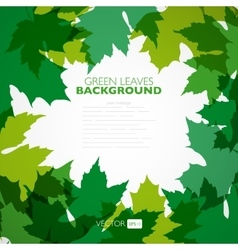 Natural background background with green vector image