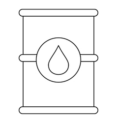 Barrel of oil icon outline style vector image vector image
