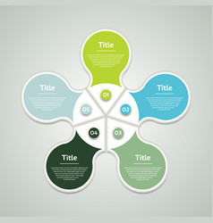 business concept with five options vector image vector image