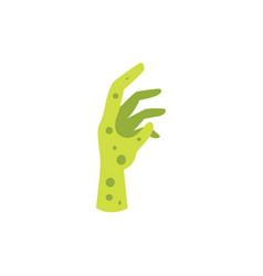 cartoon green zombie hand vector image
