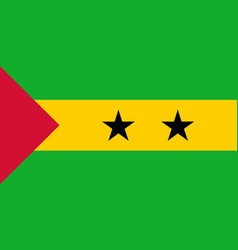 Colored flag of sao tome and principe vector