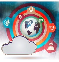 Design computer cloud vector