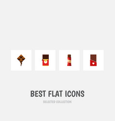 Flat icon sweet set of delicious sweet chocolate vector