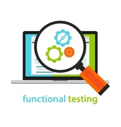 Functional testing software development process vector